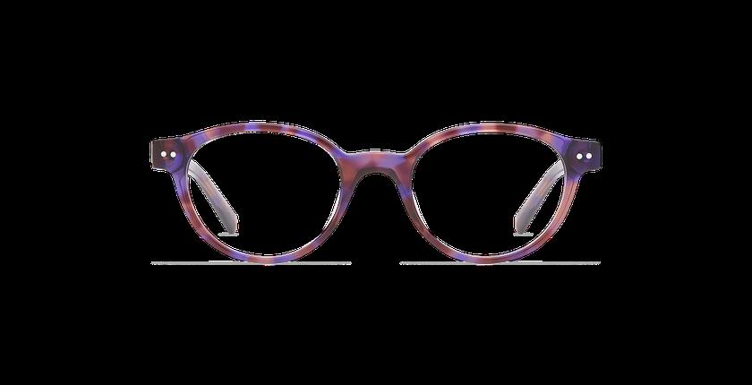 Óculos graduados criança MINIMI PU violeta/tartaruga  - Vista de frente