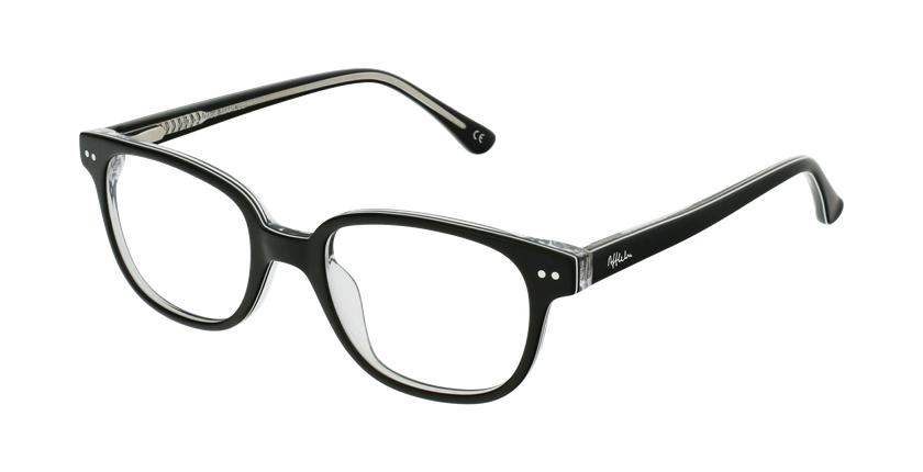 Óculos graduados criança MARCEL BK (TCHIN-TCHIN +1€) preto - vue de 3/4