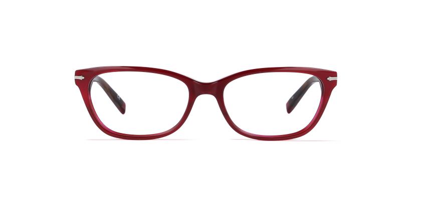 Óculos graduados senhora PLYMOUTH vermelho - Vista de frente