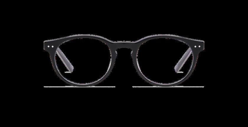 Gafas graduadas hombre RUBEN negro - vista de frente