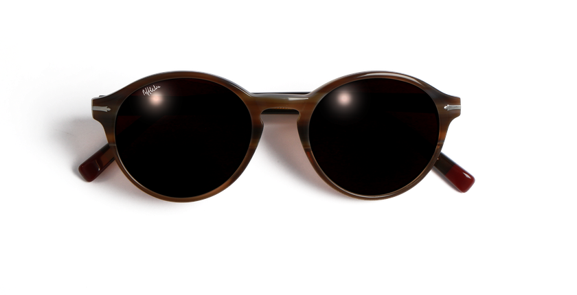 ... Óculos de sol senhora POSEIDON castanho - Vista de frente ... ef01f18450
