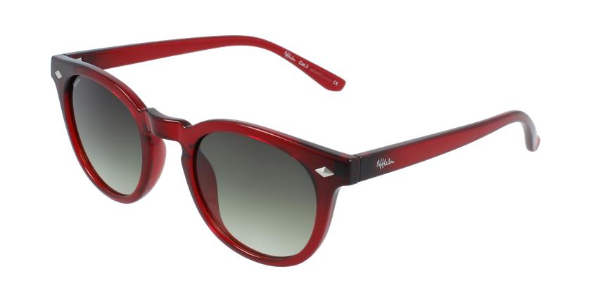 Óculos de sol GETAFE RD vermelho - vue de 3/4