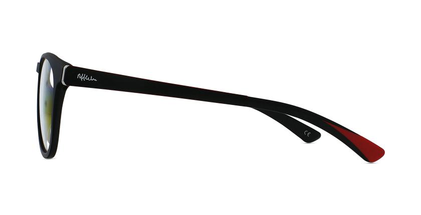 Óculos graduados homem MAGIC 63 BK preto/vermelho - Vista lateral