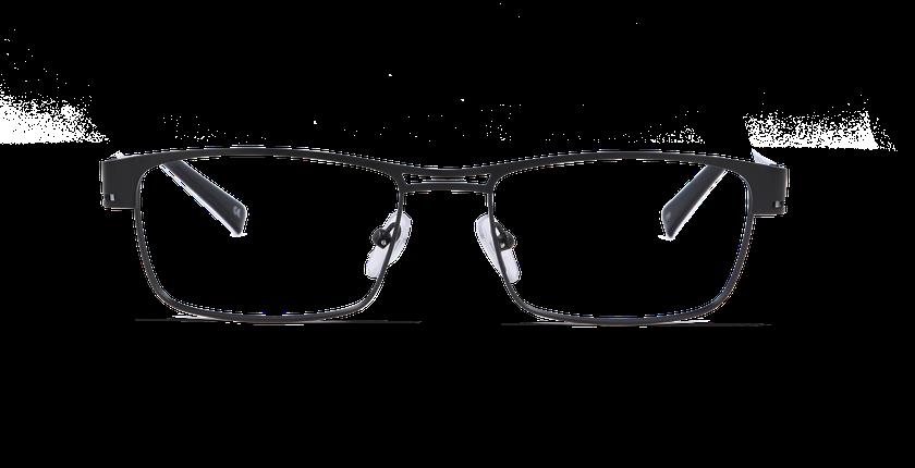 Lunettes de vue homme LEO noir - vue de face