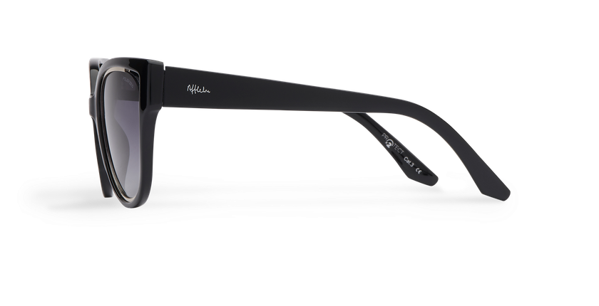 Óculos de sol senhora MAHEA POLARIZED preto/prateado - Vista lateral