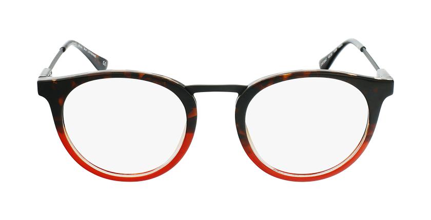 Lunettes de vue CATHERINE écaille/rouge - Vue de face