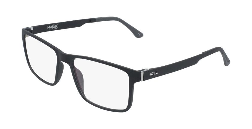 Óculos graduados homem MAGIC 59 BLUEBLOCK - BLOQUEIO LUZ AZUL preto - vue de 3/4
