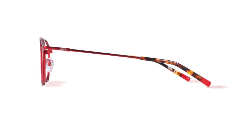 Óculos graduados homem LOM7240 vermelho - Vista lateral