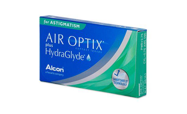 Lentilles de contact Air Optix Plus Hydraglyde For Astigmatism 6L - Vue de face