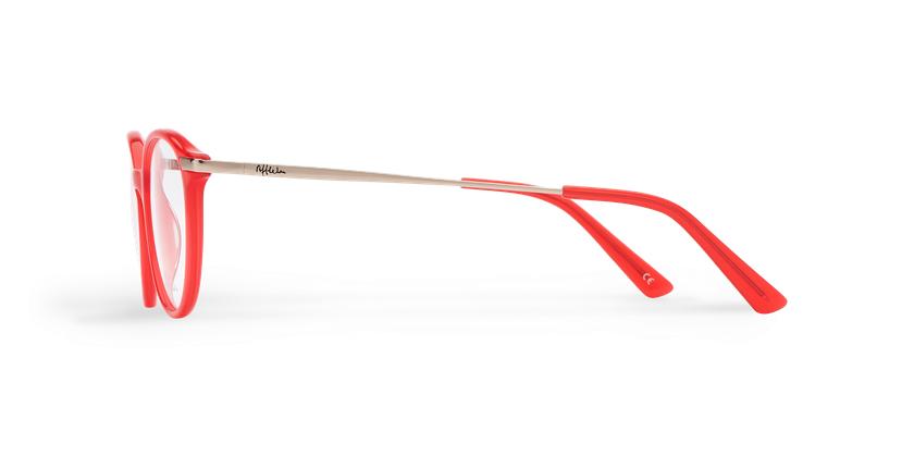 Lunettes de vue homme BENJAMIN rouge - Vue de côté