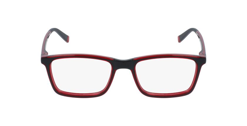 Lunettes de vue enfant RFOC1 noir/rouge - Vue de face