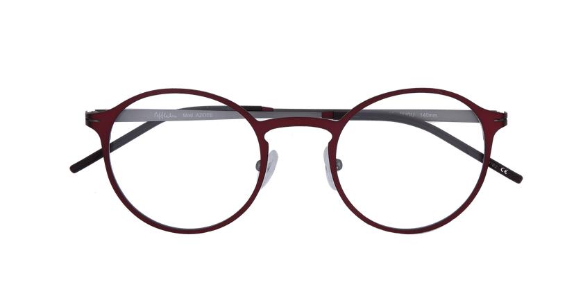 Óculos graduados homem AZOTE BUGU vermelho/cinzento - Vista de frente