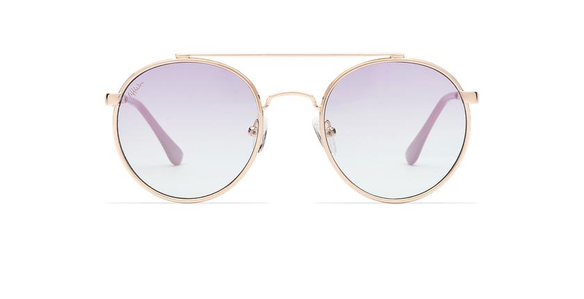 Óculos de sol MOHO GDBL dourado/azul - Vista de frente