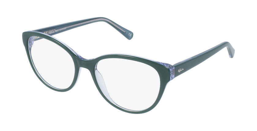 Óculos graduados senhora OAF20521 GR (TCHIN-TCHIN+1) verde - vue de 3/4