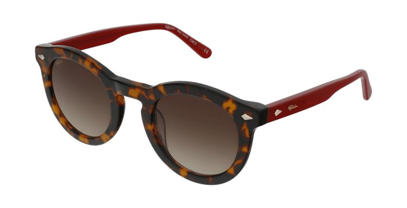 Óculos de sol senhora ANNE TORD tartaruga /vermelho - vue de 3/4