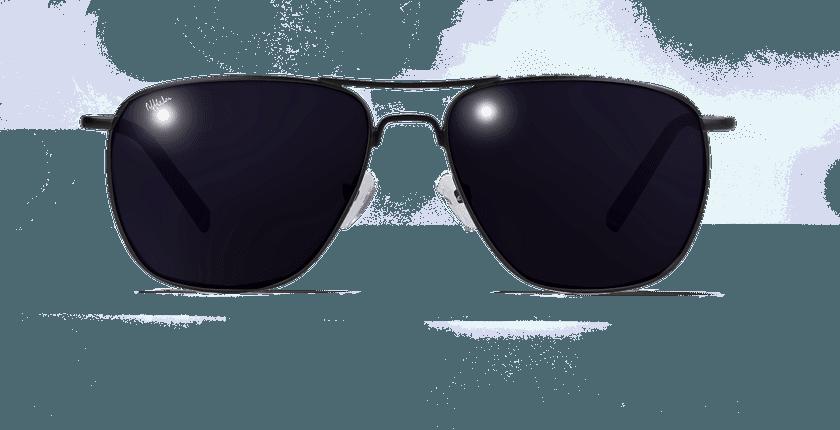Lunettes de soleil homme SAH4855 noir - Vue de face