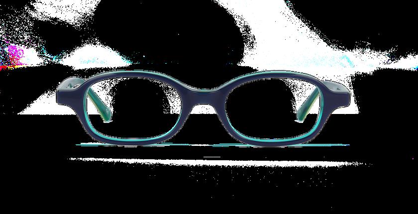 84444a37c79c09 ... Lunettes de vue enfant JIM bleu vert - Vue de face ...