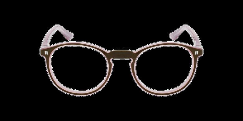 Óculos graduados criança REFORM TEENAGER (J4 BRPK) castanho/rosaVista de frente