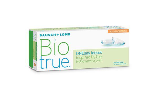 Lentilles de contact BIOTRUE 1 DAY FOR ASTIGMATISM 30L - Vue de face
