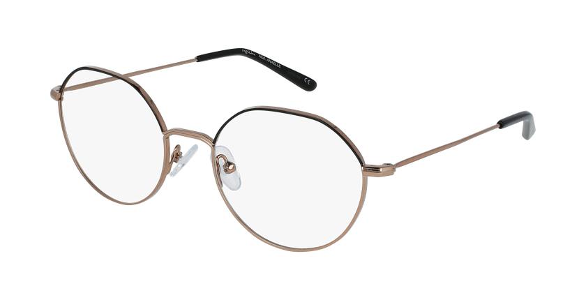 Óculos graduados senhora Anaelle bkgd (Tchin-Tchin +1€) preto/dourado - vue de 3/4
