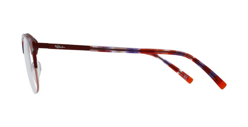 Lunettes de vue BEKSINSKI rouge - Vue de côté