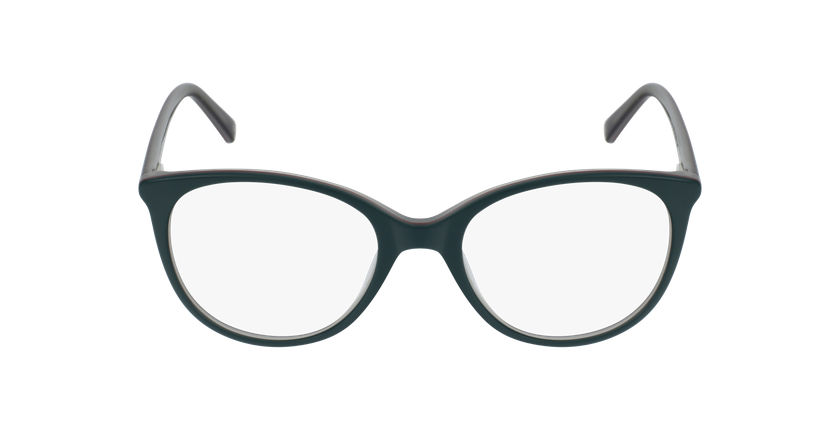 Lunettes de vue femme JENNY vert - Vue de face