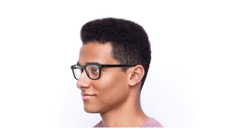 Óculos graduados homem MAGIC 46 BLUEBLOCK - BLOQUEIO LUZ AZUL preto - vue de 3/4
