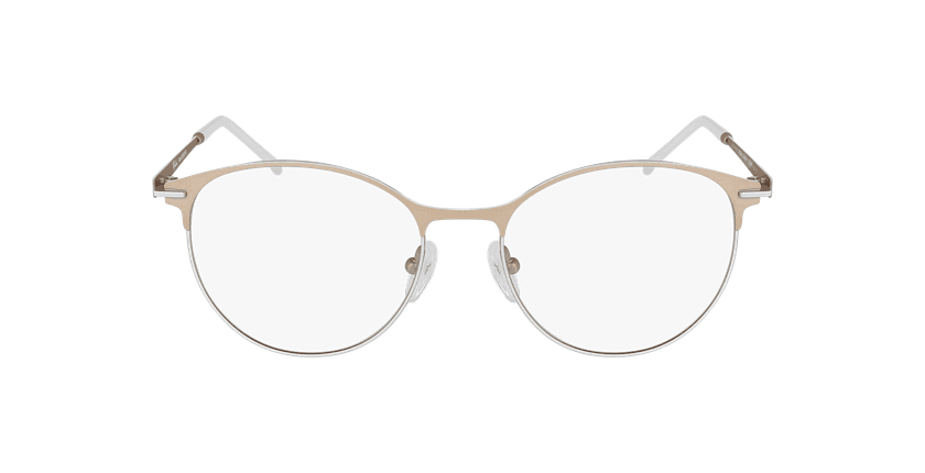 Óculos graduados senhora MEROPE BRWH bege/branco - Vista de frente