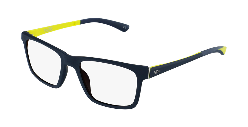 Óculos graduados criança MAGIC 64 BL azul/amarelo - vue de 3/4