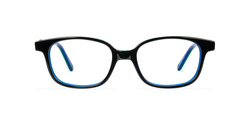 Lunettes de vue enfant STUART noir/bleu - Vue de face