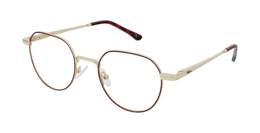Óculos graduados MAGIC 95 BU vermelho/dourado - vue de 3/4