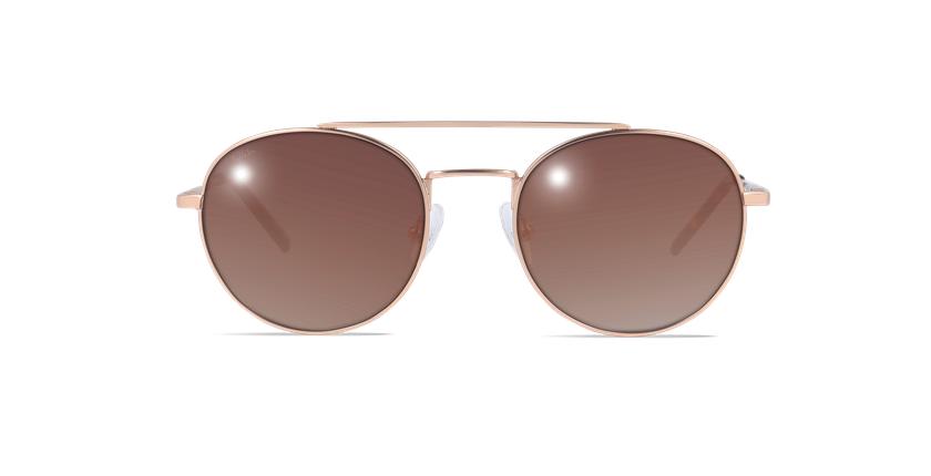 Óculos de sol homem NOAM dourado - Vista de frente