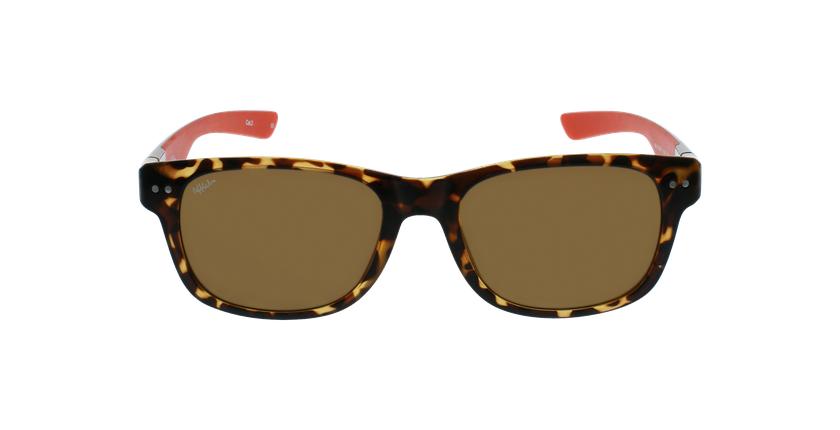 Óculos de sol homem FLORENT POLARIZED TORD tartaruga/vermelho - Vista de frente