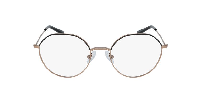 Óculos graduados senhora Anaelle bkgd (Tchin-Tchin +1€) preto/dourado - Vista de frente