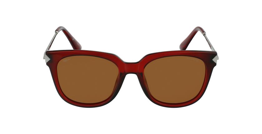 Óculos de sol senhora VETEAA RD vermelho/prateado - Vista de frente