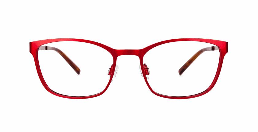 Lunettes de vue femme ALPHA5 rouge - Vue de face