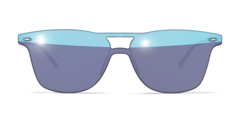 Lunettes de soleil homme COSMOS1 bleu - Vue de face