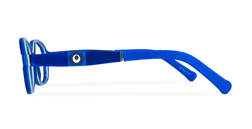 Lunettes de vue enfant CARL2 bleu/gris - Vue de côté
