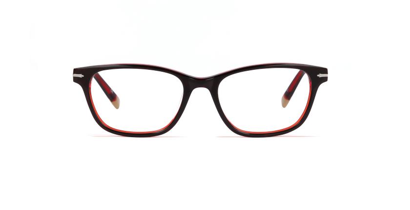 Lunettes de vue femme BELGRAVIA rouge/rouge - Vue de face