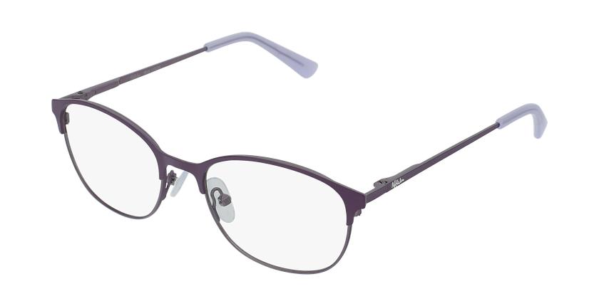 Lunettes de vue femme LISON violet/rose - vue de 3/4