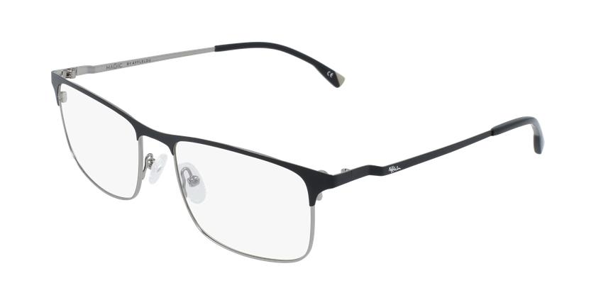 Óculos graduados homem MAGIC 51 BLUEBLOCK - BLOQUEIO LUZ AZUL preto/cinzento - vue de 3/4