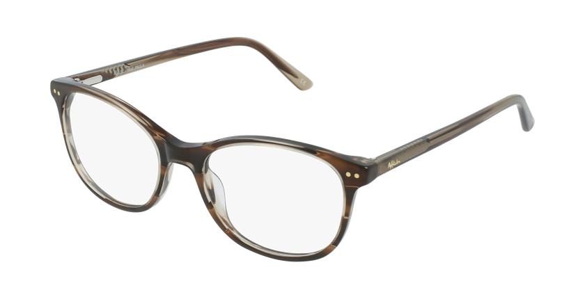 Óculos graduados criança PAULA BR (TCHIN-TCHIN +1€) castanho - vue de 3/4