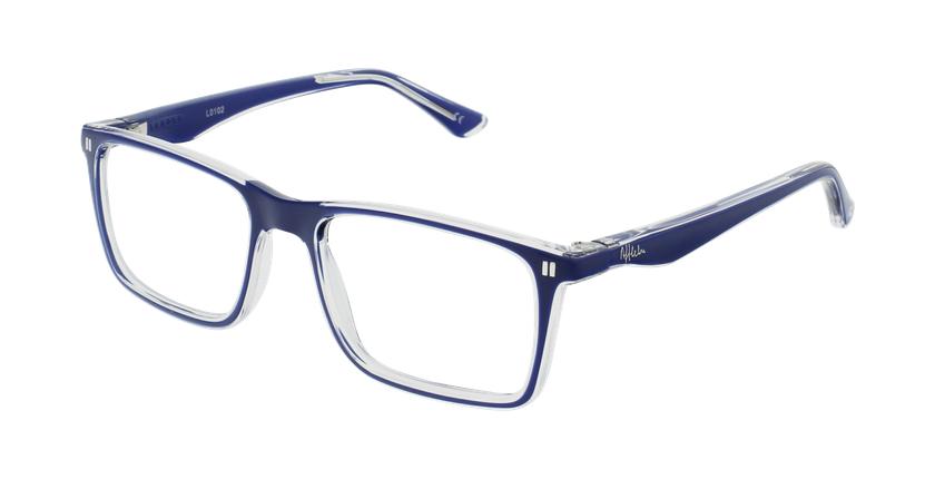 Óculos graduados criança REFORM TEENAGER (J1BL) azul/cristal - vue de 3/4