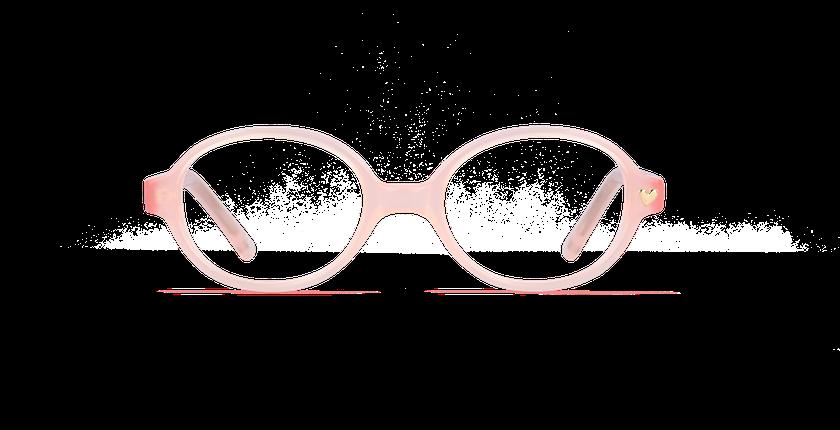 Lunettes de vue enfant PRISCILLA rose - Vue de face