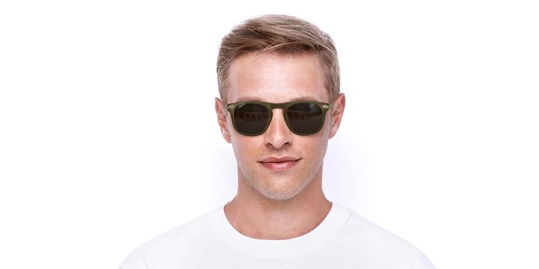 Óculos de sol homem BENALI BR castanho/dourado