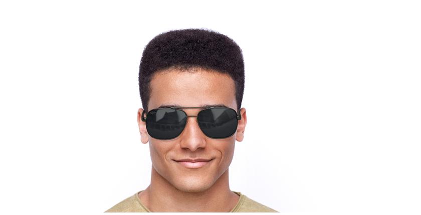 Óculos de sol homem CRUZ GU preto/cinzento - Vista de frente
