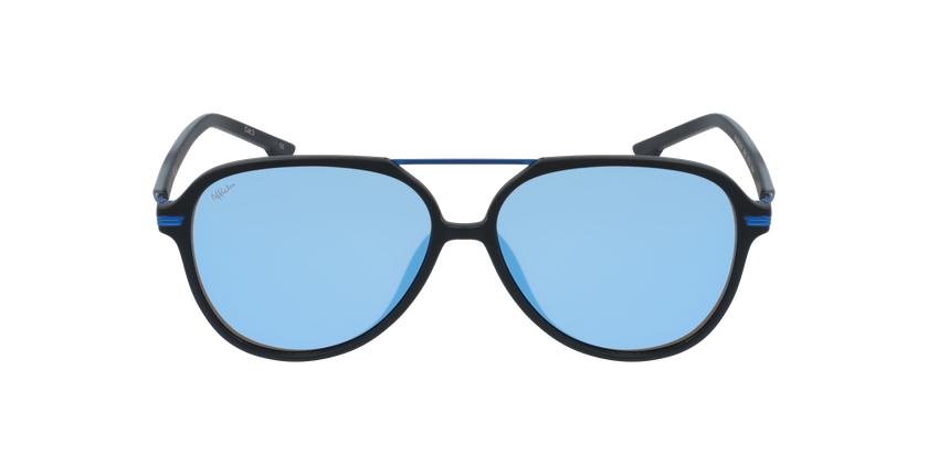 Óculos de sol homem BASAURI BKBL preto/azul - Vista de frente
