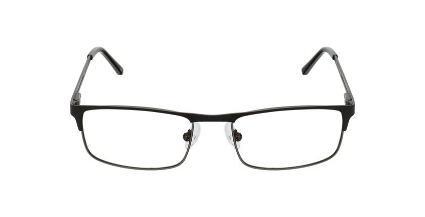 Lunettes de vue homme LILOUAN noir/gris - Vue de face