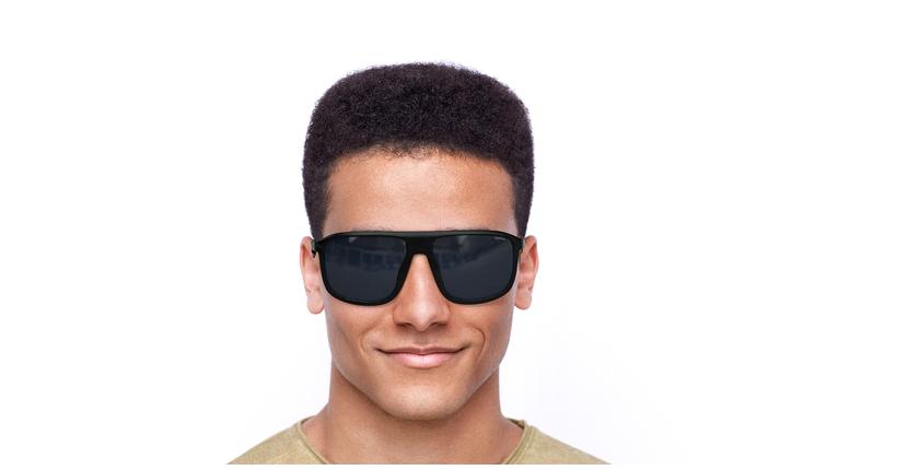 Lunettes de soleil homme LANCIANO noir - Vue de face