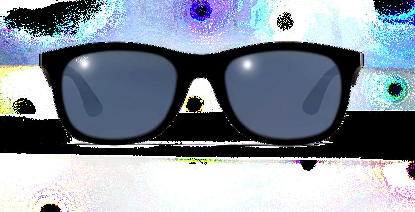 Lunettes de soleil homme AREZZO POLARIZED noir - Vue de face